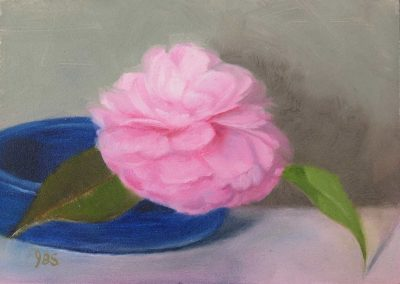Camellia with Blue Bowl