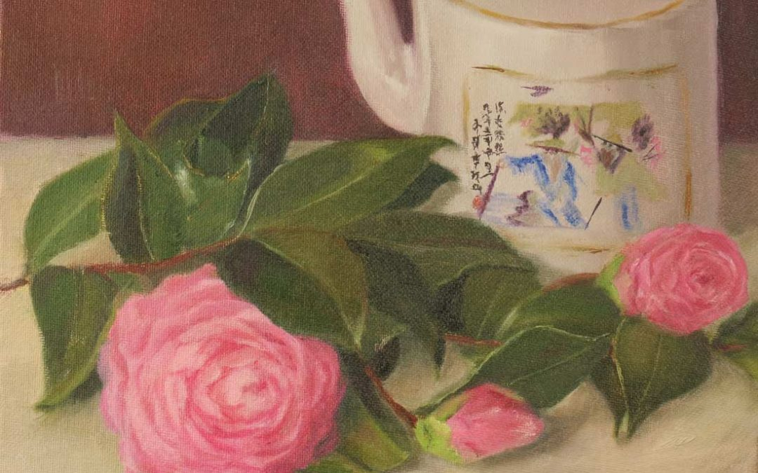 Chinese Teapot with Camellias