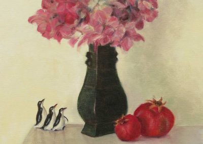 Still Life with with Penguin Triplets